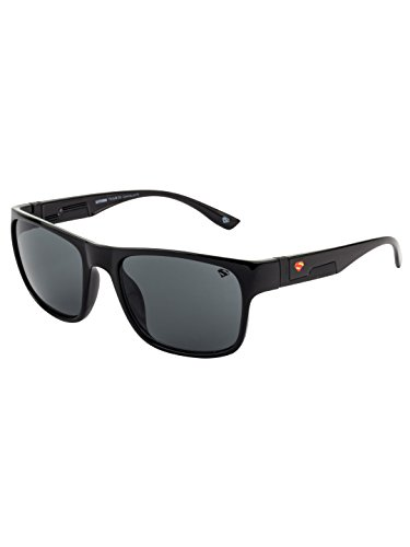 Superman UV Protected Wayfarer Unisex Sunglasses - (SOC-SM-073-C1|56|Grey Color Lens)