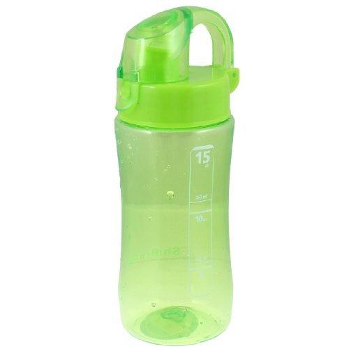 Plastic handvat cilindrische vorm Tea Drinking Water Bottle bekerhouder Lime Green 450ml Lime Green Bottle