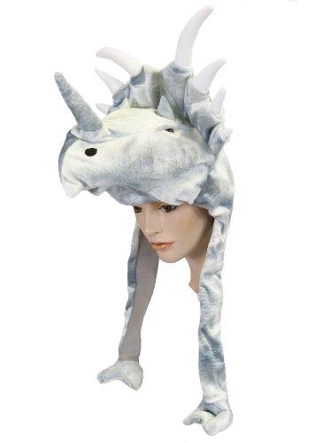 Plüsch Mütze Dinosaurier (Erwachsene Für Kostüm Triceratops)