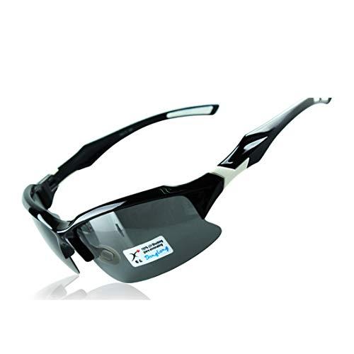 Retro Vintage Sonnenbrille, für Frauen und Männer Klassische PC polarisierte Sport-Sonnenbrille for Frauen-Männer im Freien, die das Radfahren Anti-UV rutschfeste randlose Fahren (Farbe : A001)