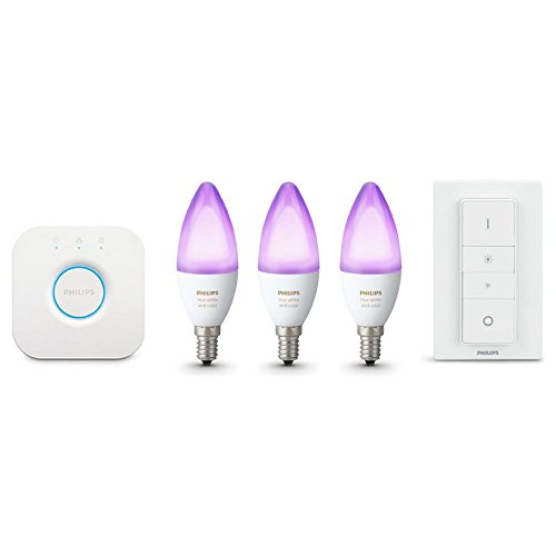 Philips Hue LED E14 3er Starter Set RGBW 6W inkl. Dimmschalter
