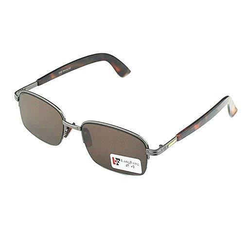 SCJ Natürliche Kristallfelsengläser halber Rahmen der Sonnenspiegelmann die positiven Artikelfelsensonnenbrille behalten EIN Auge, um Augen zu schützen
