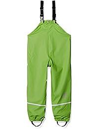 Sterntaler Regenträgerhose Gefüttert, Pantalones Impermeable Bebé-Niños, Verde (Grün 254), 74