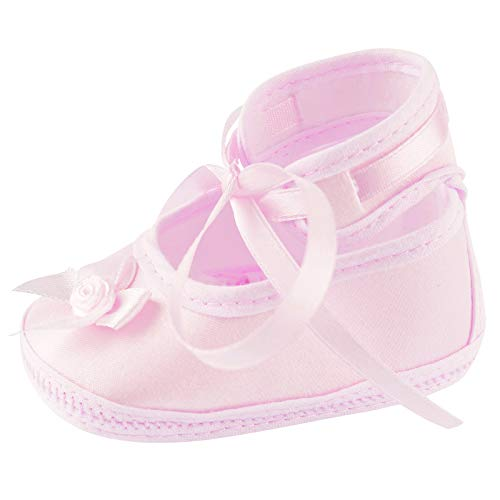 Toma Taufschuhe Baby Schuhe Leder Sandalen Taufe Junge Mädchen Lauflernschuhe Rosa 11cm