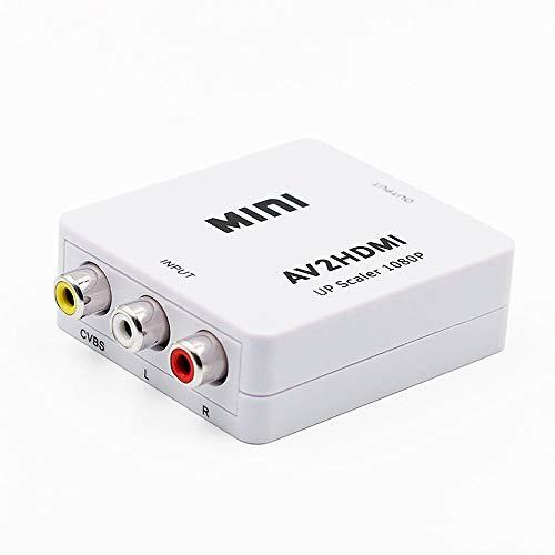 Xinxun RCA auf HDMI Adapter, AV auf HDMI Konverter AV zu HDMI Adapter Unterstützung 1080P mit USB Charge Ladekabel für PC Laptop PS4 PS3 TV STB VHS VCR Camera DVD