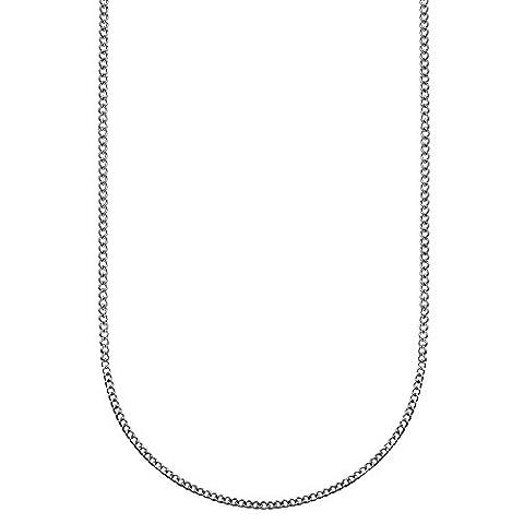 tumundo Acier Inox 2 mm Collier Fines Homme Femme Sautoir Argent Chaîne Texturée Chenille Bijoux Carabine 50 - 60 cm , Couleur:silber - 55cm / silver