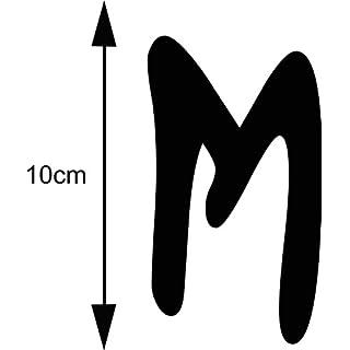 AnoLetterFoil Selbstklebender Deko Buchstabe - M - schwarz, 10 cm hoch - Kleben statt Bohren, Aufkleber für Aussen- und Innenbereich, Ziffer, Türaufkleber, Beschriftung, Namen, Kindernamen, Kinderzimmer, Sticker auch als Wandtattoo, Fensteraufkleber und Türen, Klebezahlen