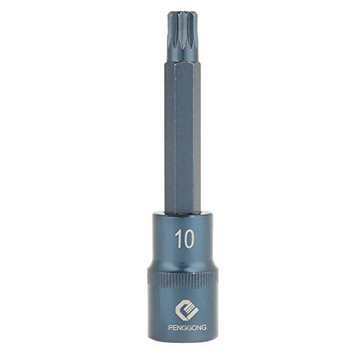 Pack Of 1 Stück 1/2 Zoll S2 Stahl 12 Punkt Schaft Elektroschrauber Socket Bit Elektrowerkzeug Drive Sockets über 100 mm In Länge(1/2×100×M10) -