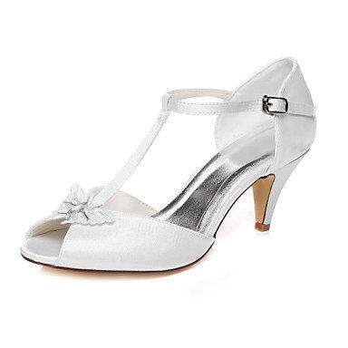 RTRY Donna Scarpe Matrimonio Peep Toe Sandali Wedding 2A-2 3/4In Bianco White