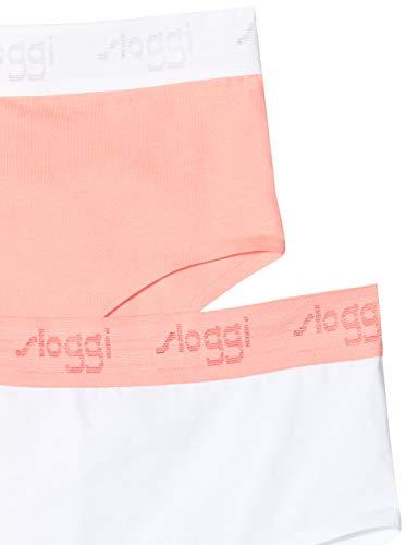 Sloggi Damen The '79 Maxi Taillenslip, Orange (Orange-Light Combination M017), L (2er Pack) - 2