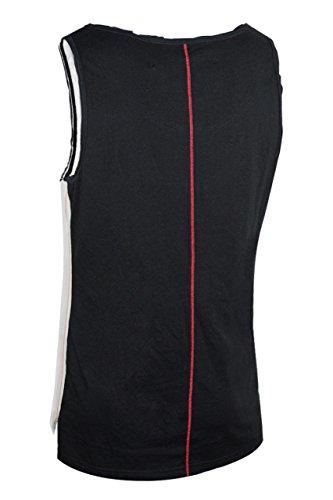trueprodigy Casual Herren Marken Tank Top mit Aufdruck, Oberteil cool und stylisch mit Rundhals (kurzarm & Slim Fit), Muscle Shirt für Männer bedruckt Farbe: Schwarz 1072180-2999 Black