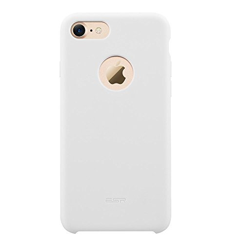 iPhone 7 Case,ESR [Slim Thin][Shock Absorbing] iPhone 7 Liquid Silicone Case Cover for 4.7 inches iPhone 7 Dark Grey iPhone 7-Yippee-White
