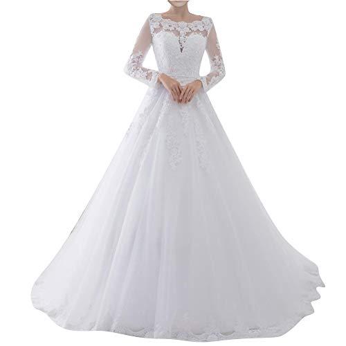 Brautkleid mit Spitze Ärmel