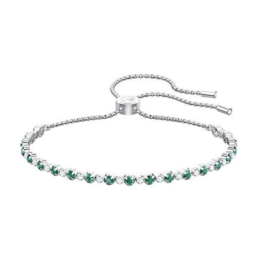 Imagen de swarovski 5465355 subtle  pulsera, color verde y blanco