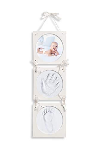 Click & Clay - Kit d'Empreintes Pieds et Mains de Bébé, Cadeau de Baby Shower, Naissance et...
