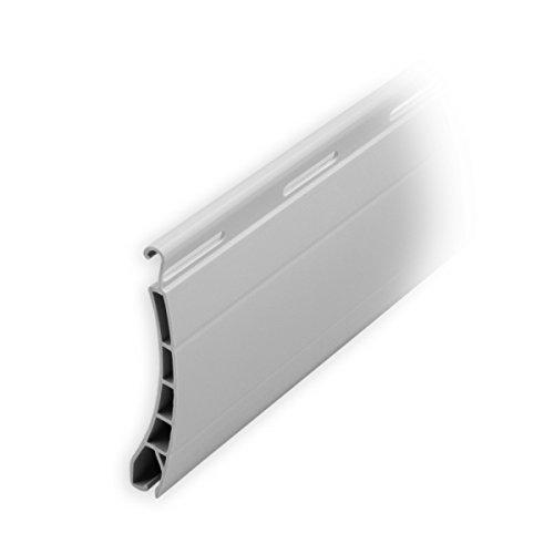 DIWARO Kunststoff Rolladen Ersatzlamelle Profil Pico, Deckbreite 37mm Nenndicke 8mm, Fixlänge 1100 mm in der Farbe Grau (Profil Pico | Farbe Grau | Länge 1100mm)