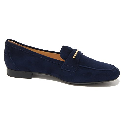 96436 mocassino blu TOD'S scarpa donna loafer shoes women Blu