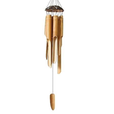 Home Collection Arredamento Decorazione Scacciapensieri con Tubi in Bambù da appendere 84 cm