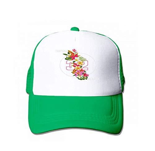 KHETAMNY Baseball Caps Cowboy Hats Sun Hats Hello Summer Floral Poster Tropical Exotic Flowers Design Sale