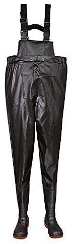 Sicherheits Brust-Watstiefel S5 Black 43 (Resistant Steel Toe Schuhe)