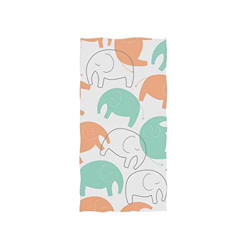 DEZIRO Handtücher mit Elefanten-Skizze, sehr saugfähig