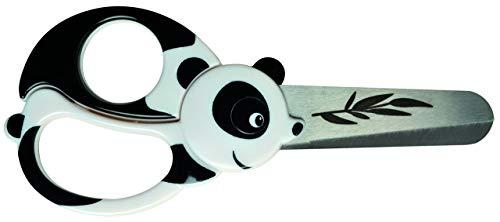 Fiskars Kinder-Tierschere mit Panda-Motiv, Ab 4 Jahren, Länge: 13 cm, Für Rechts- und Linkshänder, Rostfreie Stahl-Klinge/Kunststoff-Griffe, Weiß/Schwarz, 1004613
