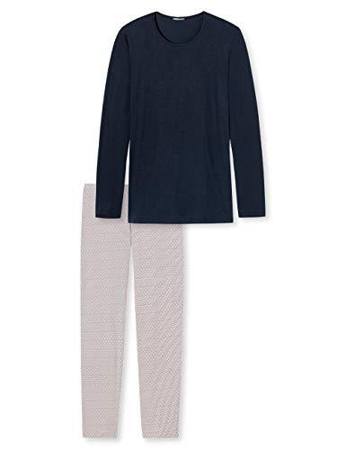 Schiesser Damen Anzug lang Zweiteiliger Schlafanzug, Blau (Blau 800), 38 (Herstellergröße: 038)
