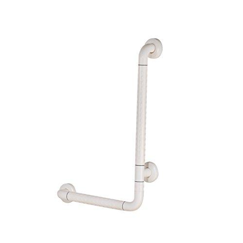MyAou-handle WC Handläufe ältere Behinderte Badezimmer Sicherheit WC Zubehör Edelstahl Anti-Rutsch-WC-Sitz (Farbe : Weiß)