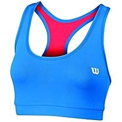 Wilson WRA708602LG - Top para mujer, color rojo/ azul, talla L