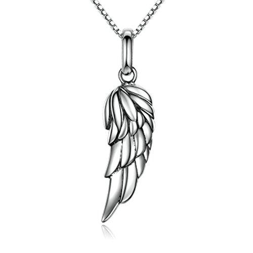 IzuBizu London Classy Feder Flügel Anhänger 925 Silber Schutzengel - Kostenlose Geschenkverpackung (Himmlische Engel Kind Kostüme)