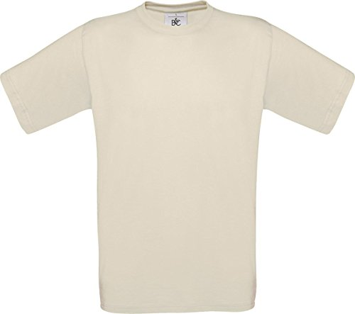 B & C Herren Casual Wear Short Sleeve Crew Neck Baumwolle Tees TOP SHIRT Exact 150 Beige - Sand