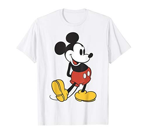 Disney Mickey Mouse Vintage Leg Kick Graphic T-Shirt -