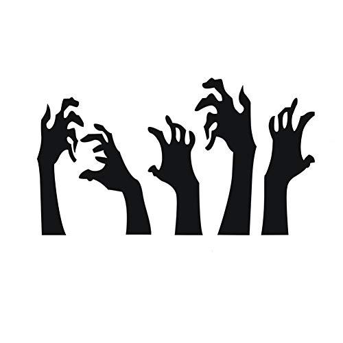 iShine 3 Stück Halloween Aufkleber Ellbogen Geschnitzte Serie Muster Schwarz/Rot Wandaufkleber Fenster Tür Glasschrank Dekoration für Haus Klassenzimmer Party Club Bar