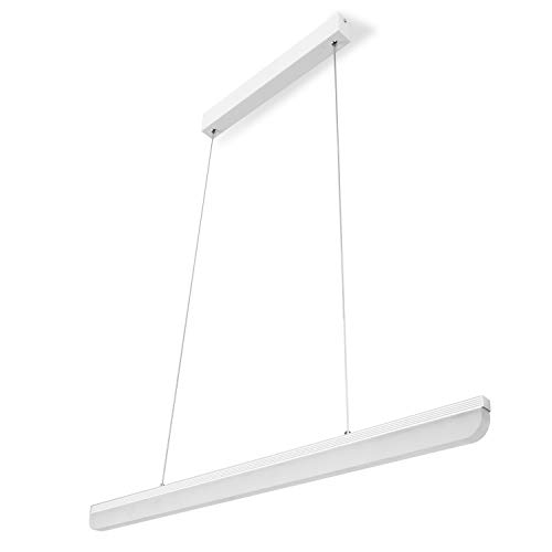 Techo Altura ajustable 16W, Lámpara de techo Comedor blanco 4000K acrílico-Lámpara de techo para mesa de comedor trabajo habitaciones Salón