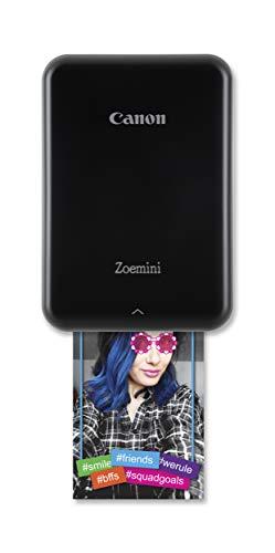 Canon Zoemini Mobiler Mini-Fotodrucker (Akku, 5 x 7,5cm Fotos, ZINK-Druck tintenfrei, für Handys iOS und Android via blautooth, 160 g) schwarz