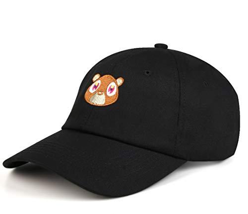 Baseballmütze,Washed Cotton Cap Bear Embroidered Curved Plain Dad Hat  Strapback Baseball Cap Unisex a4c17375c9