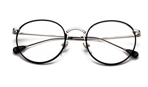 brillengestell Brillenfassungen Brillen Retro Metallrahmen Gläser Anti-Strahlung anti-blau schwarz