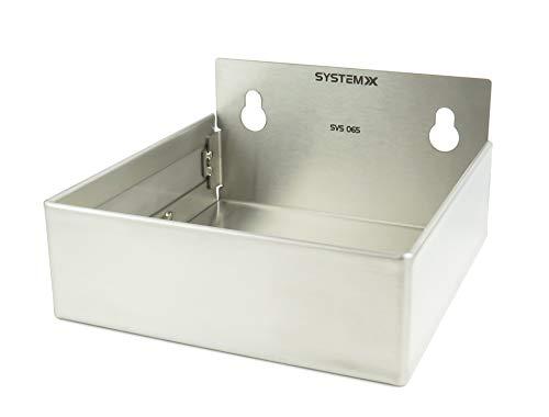Bin Regalsystem (Edelstahl Lagerplatz, Stainless Steel Grey, Storage Bin Large)