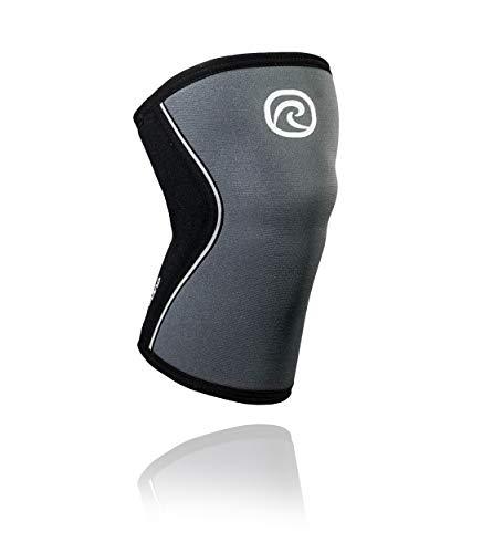Rehband RX Knee Sleeve 5mm Kniebandage, Steel Grau, XL