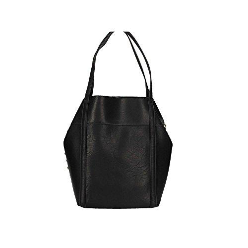Patrizia Pepe borsa a spalla 2V6901 con borchie nera Grigio