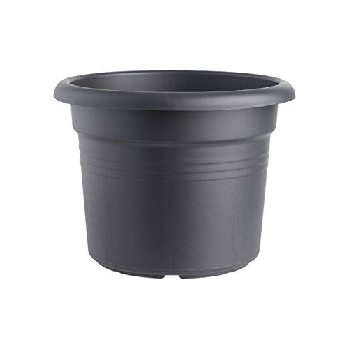 Elho 2055369 Green Basics Cilinder Pot de Fleurs Noir 65 x 65 x 48 cm