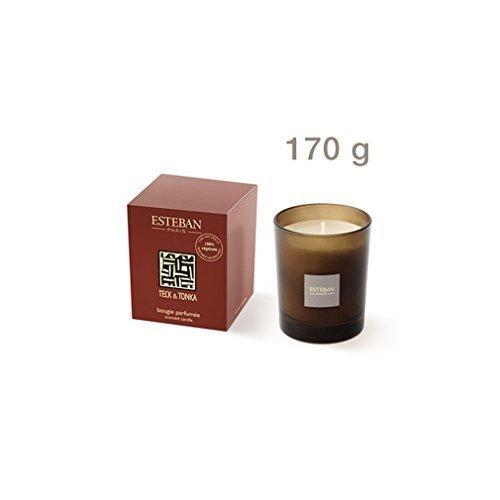 Estéban Teck & Tonka - Duftkerze 170 g Raumduft Kerze Esteban