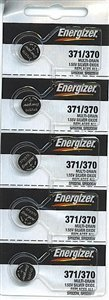 Energizer 371 / 370 Silver Oxide Watch Battery (5 per Pack) by Energizer 371 Silver Oxide Watch Battery
