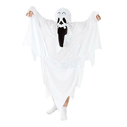 LONTG Halloween Kostüme mit Kapuze Geist Teufel Halloween Bekleidung Unisex für Erwachsene Kinder Damen Herren Halloween Mantel Horror Vampir für Karneval Cosplay Halloween Umhang 1,5m