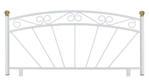 4'6 Double Kent Metal Headboard, New, U.K. Made. Gloss White Finish.