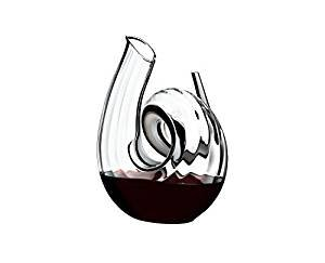 Riedel Dekanter Curly Fatto A Mano, Glasdekanter, Dekantierflasche, Weinkaraffe, Hochwertiges Glas,...