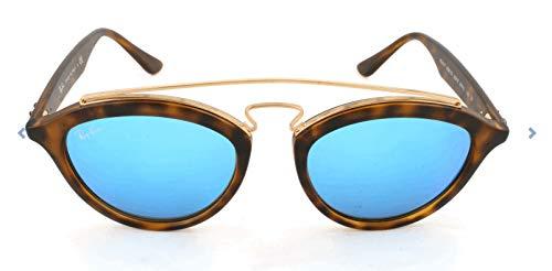 RAYBAN Unisex Sonnenbrille Mod. 4257 Mehrfarbig (Gestell: Havana, Gläser: hellgrün verspiegelt blau 609255)), Medium (Herstellergröße: 50)