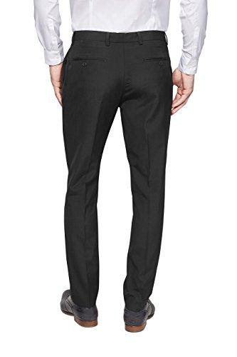 next Smoking en laine mélangée: Pantalon fuselé Coupe Skinny Homme Noir