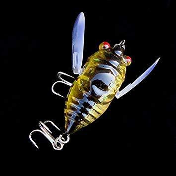 Preisvergleich Produktbild Petsdelite® Cicada 6G Barsch Insektenköder Angelköder lebensechte Köder mit Haken