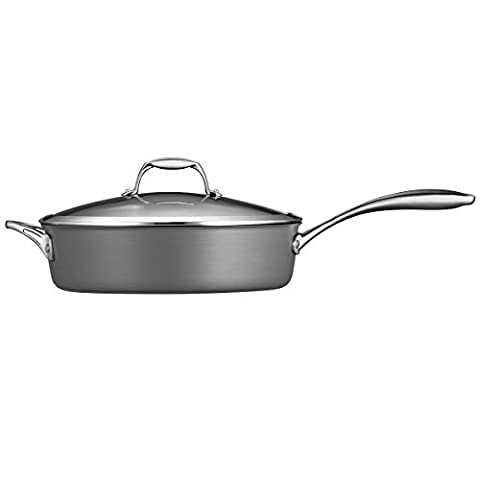 Tramontina 80123/014DS Gourmet Heavy-Gauge Aluminum Nonstick Covered Deep Saute Pan, 5.5-Quart, Hard Anodized by Tramontina